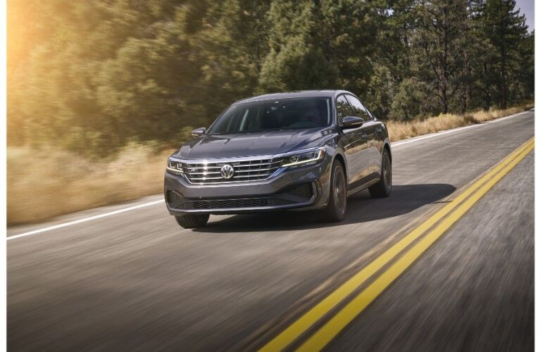 2020 VW Passat on the road