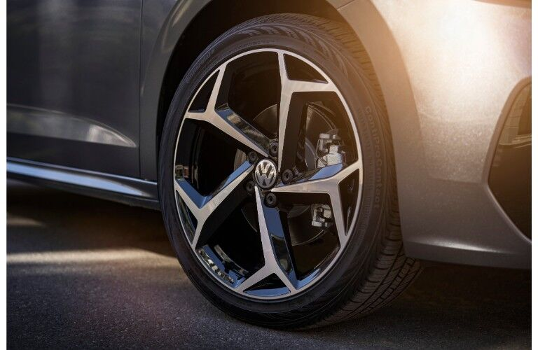 2020 VW Passat tire close up
