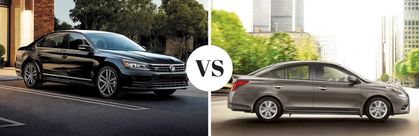 2017 Volkswagen Passat vs 2017 Nissan Versa