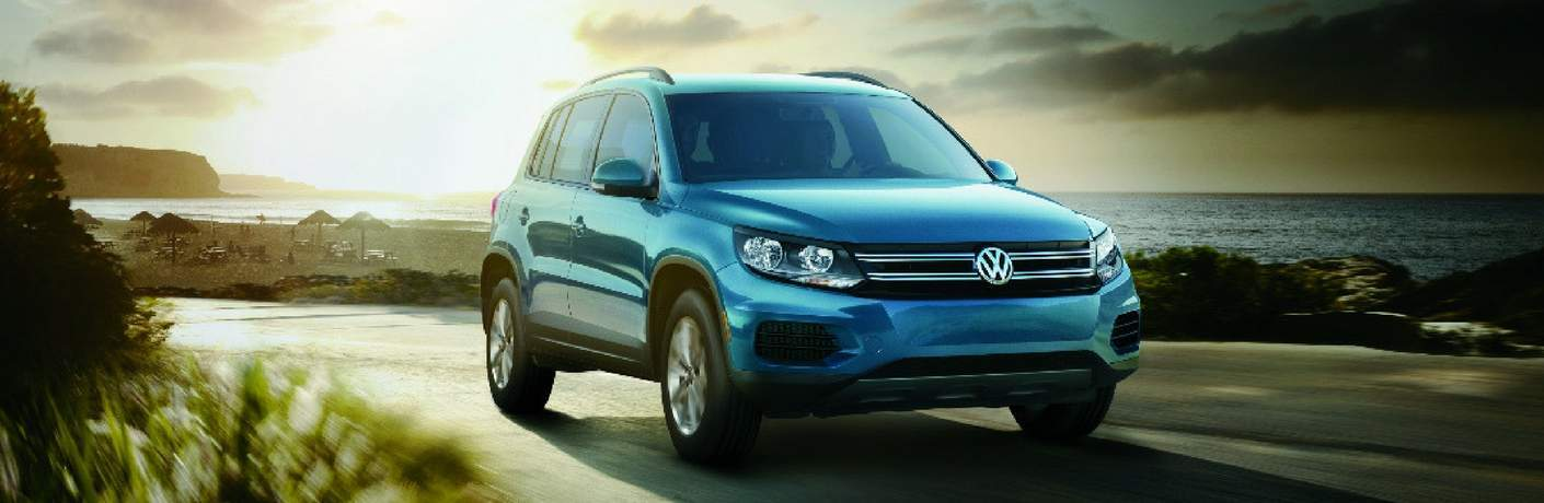 2017 Volkswagen Tiguan Limited driving by the beach