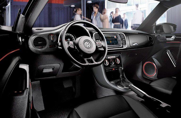 2017 VW Beetle Convertible driver-centric cockpit