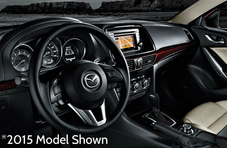 Front dash of 2015 Mazda6