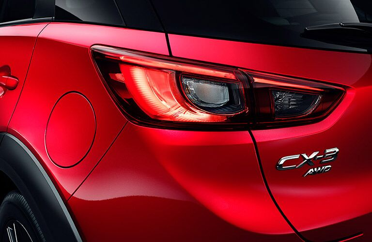 Tail light on the 2016 Mazda CX-3