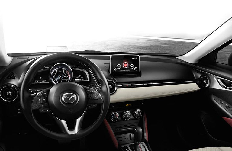 Front dash of the 2016 Mazda CX-3