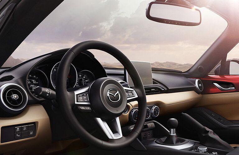 Front dash of 2016 Mazda MX-5 Miata