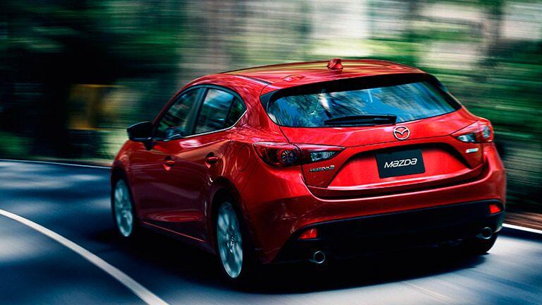 Rear profile of 2016 Mazda3 hatchback