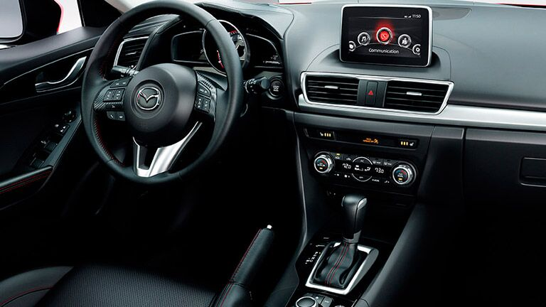 Front dash of 2016 Mazda3