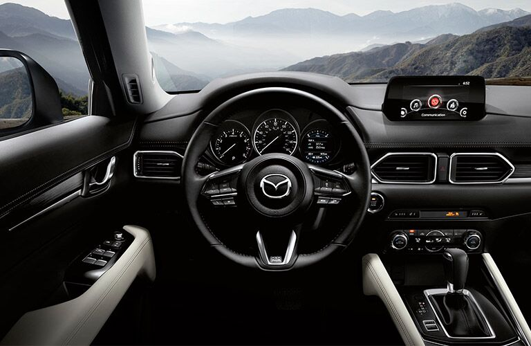2018 Mazda CX-5 steering and dash.