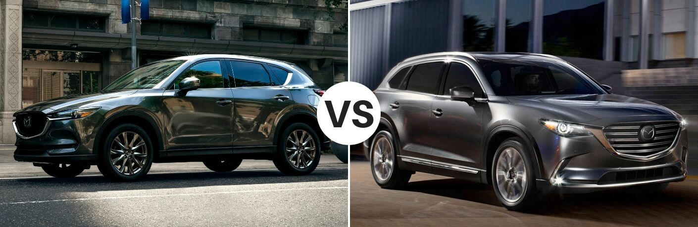 2019 Mazda CX-5 set against a 2019 Mazda CX-9
