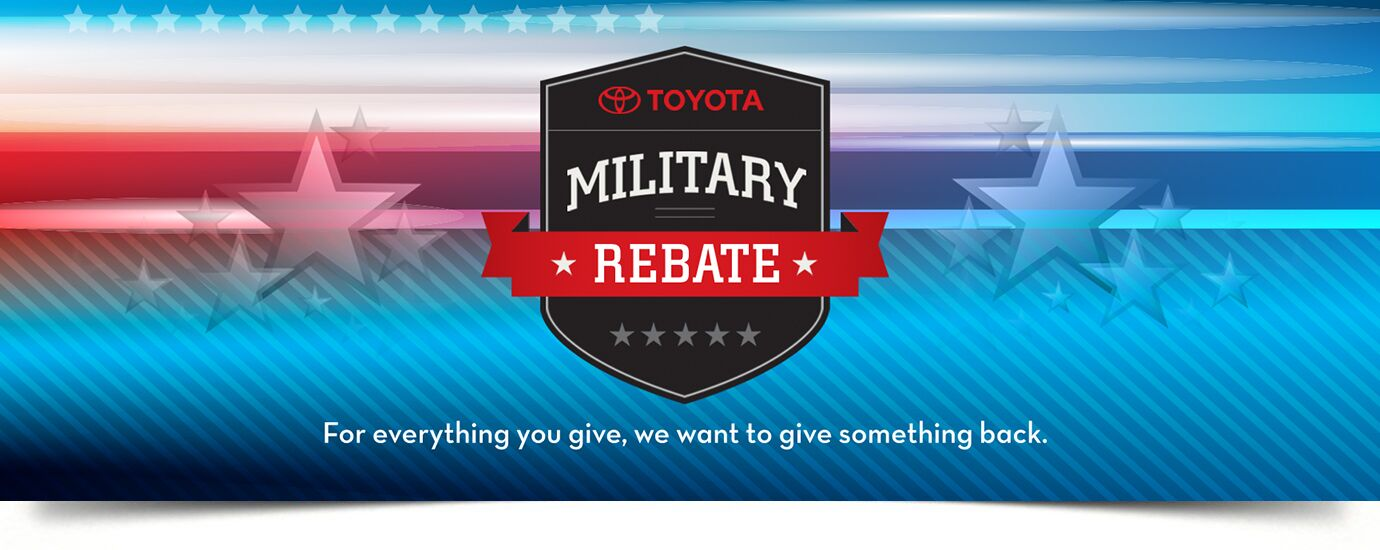 Military Rebate at DealerSocket Toyota
