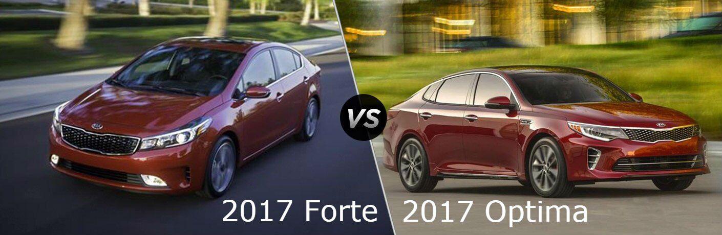 2017 Kia Forte vs. 2017 Kia Optima