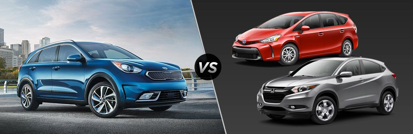 2017 Kia Niro vs 2017 Honda HR-V and 2017 Toyota Prius v