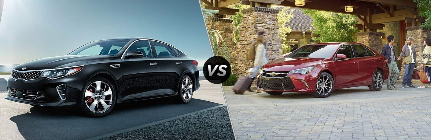 2017 Kia Optima vs. 2017 Toyota Camry midsize sedans