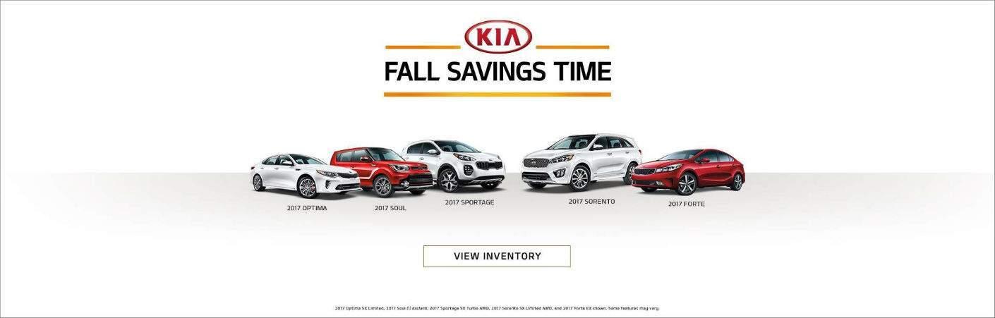 Kia Fall Savings Time 2017 models Forte Optima Soul Sorento Sportage Detroit MI