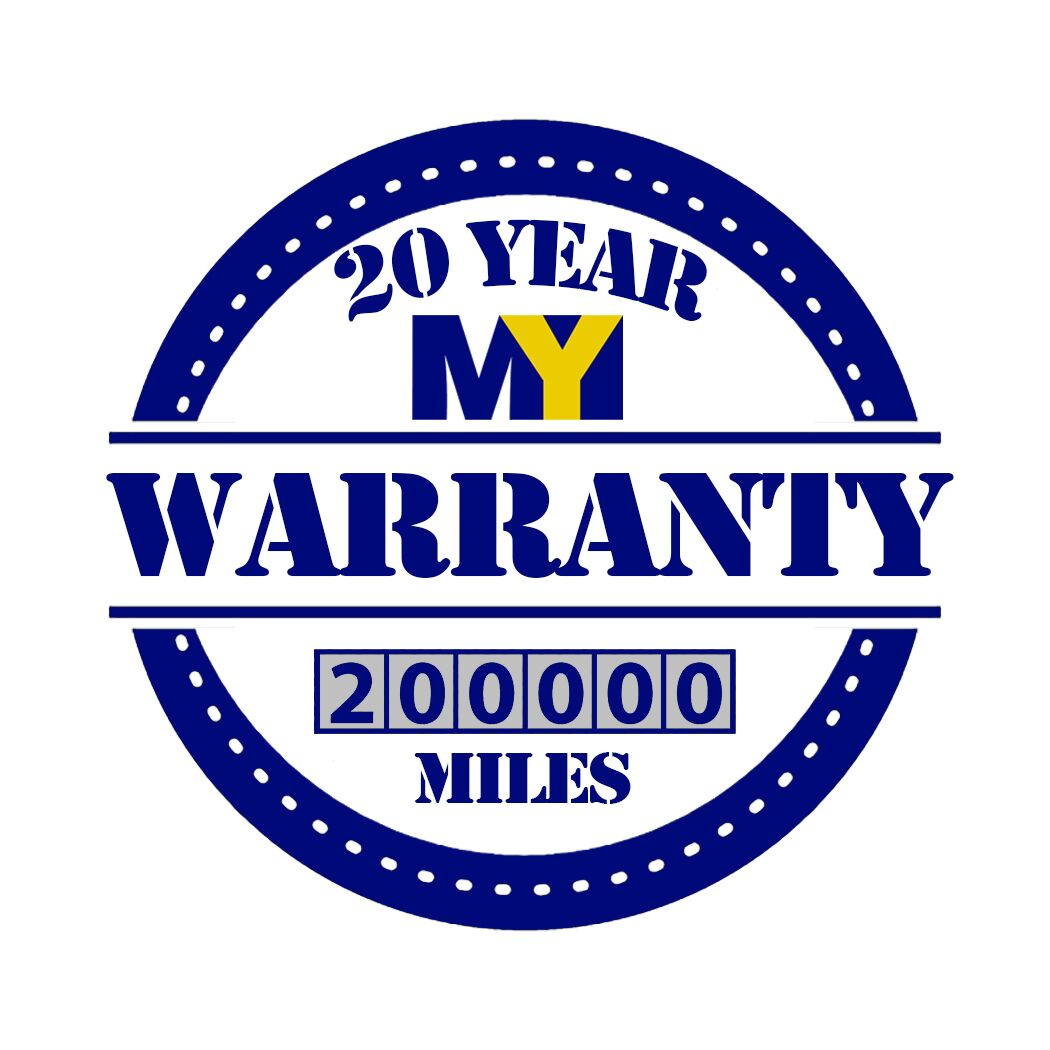 20 Year/200,000 mile My Warranty logo