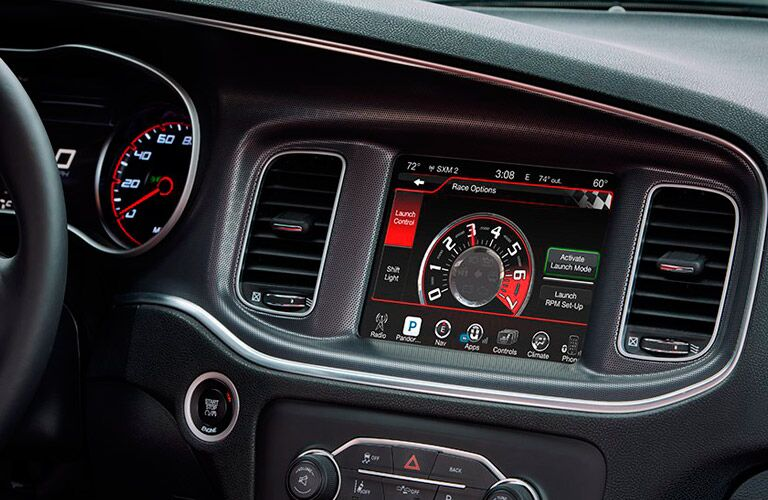Uconnect instrumentation in the 2016 Dodge Charger SRT Hellcat