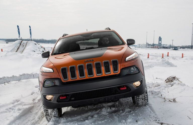 2016 Jeep Cherokee driving confidently on snow