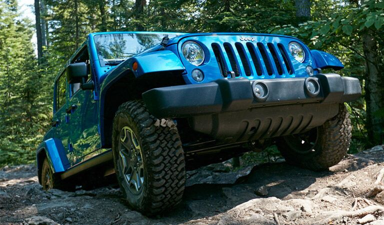2016 Jeep Wrangler Unlimited in bright blue