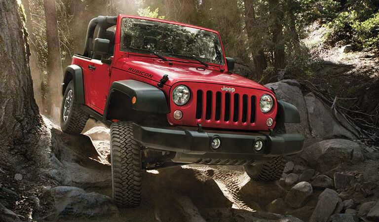 2016 Jeep Wrangler in the woods