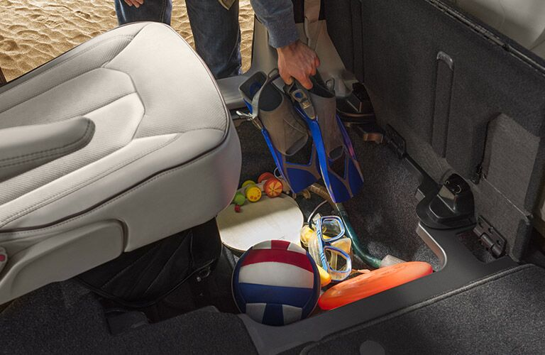 2017 Chrysler Pacifica underseat storage options