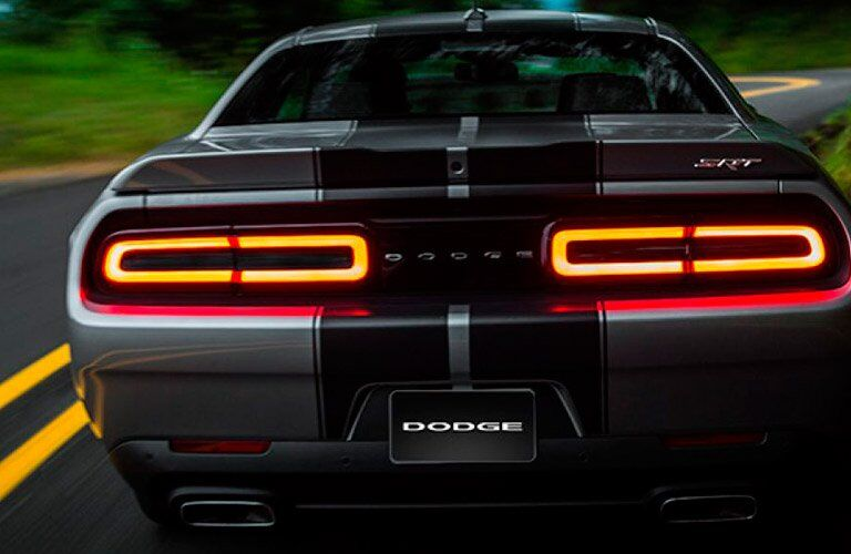 bold rear lights of the 2017 Dodge Challenger SRT