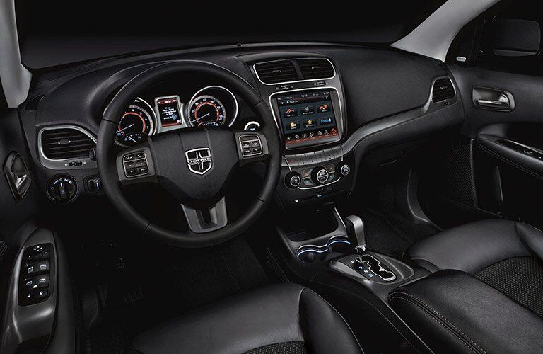 front dashboard view of the 2017 Dodge Journey