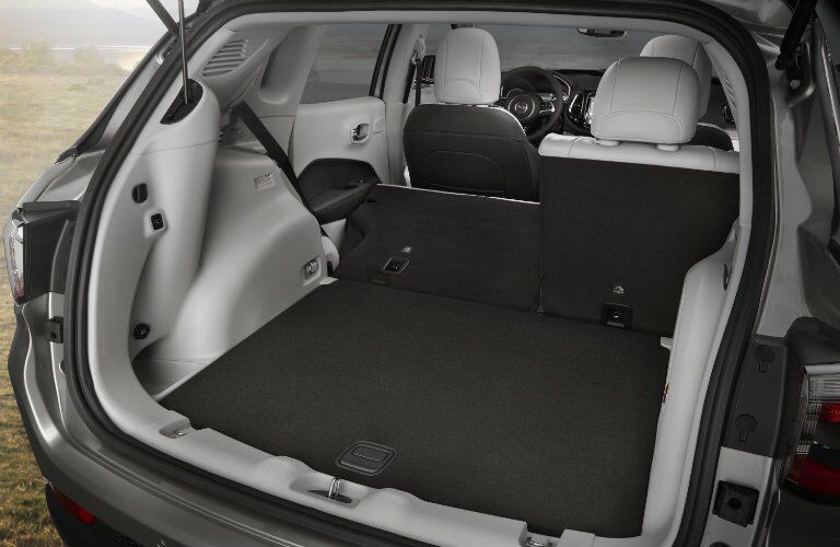 rear cargo area of the 2017 Jeep Compass