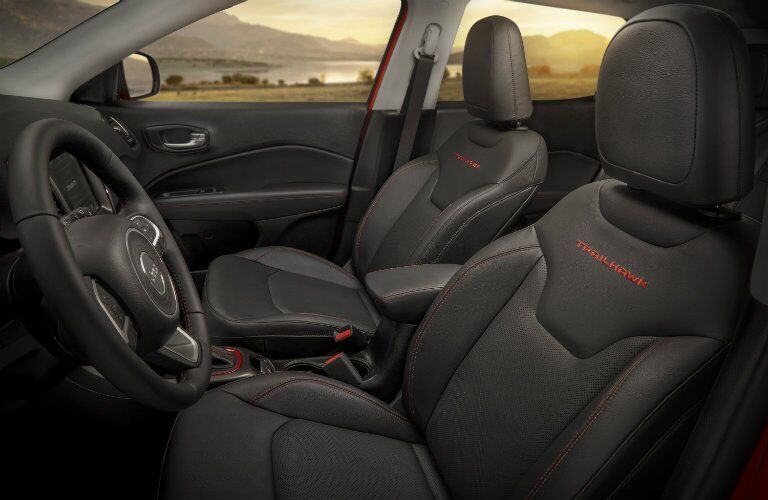 front seating of the 2017 Jeep Compass Trailhawk trim