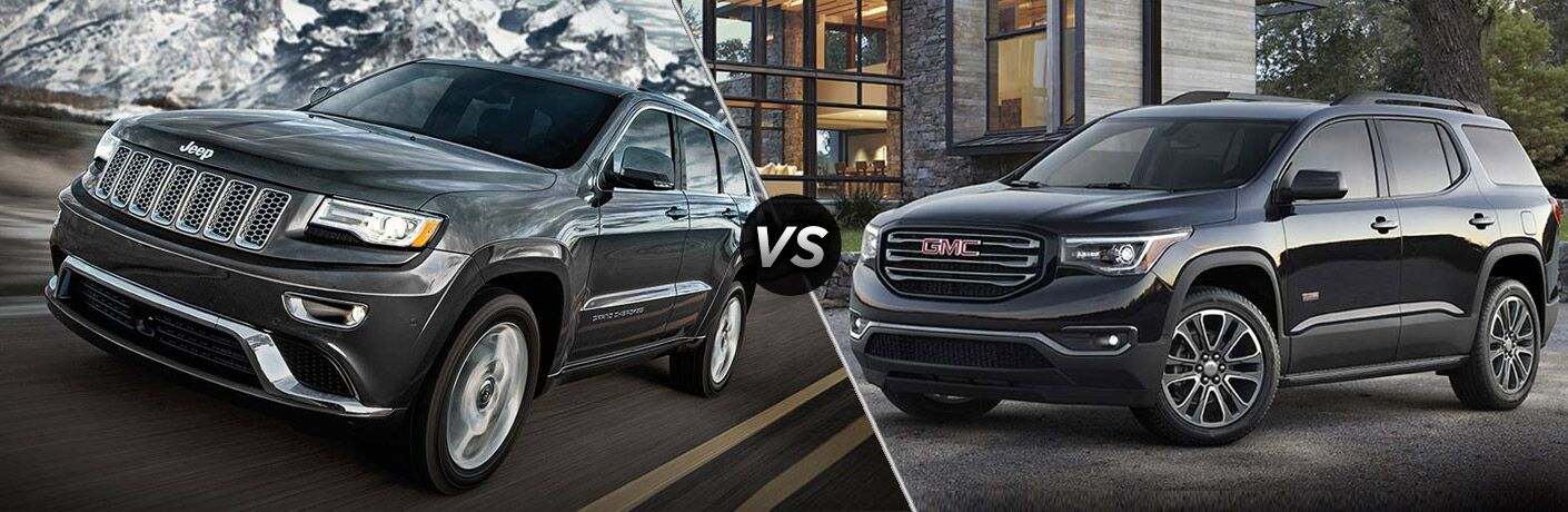 gmc acadia vs jeep grand cherokee 2017. Black Bedroom Furniture Sets. Home Design Ideas