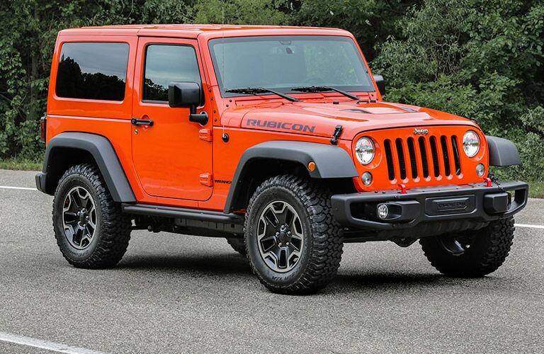 orange 2017 Jeep Wrangler Rubicon