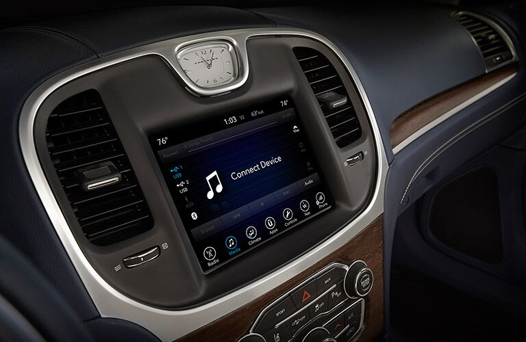 Uconnect infotainment system on the 2017 Chrysler 300