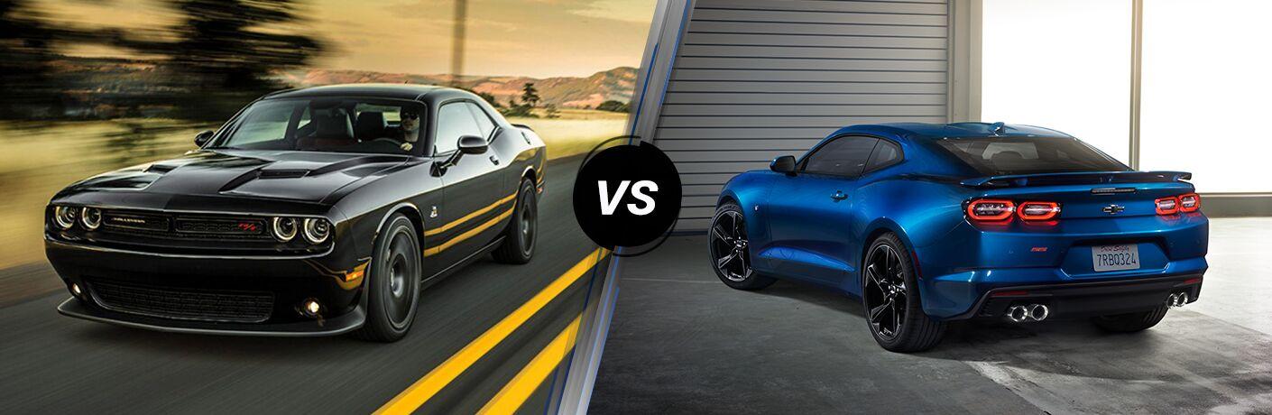 2019 Dodge Challenger vs 2019 Chevy Camaro