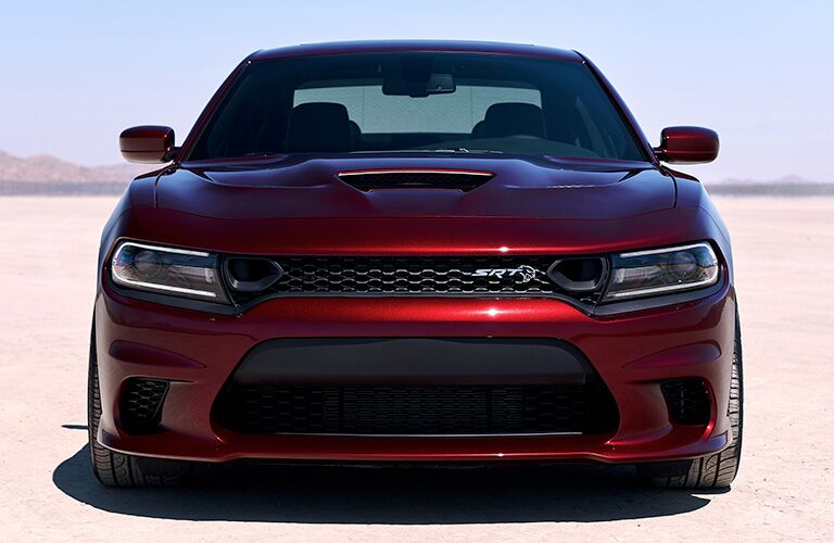 Front of red 2019 Dodge Charger