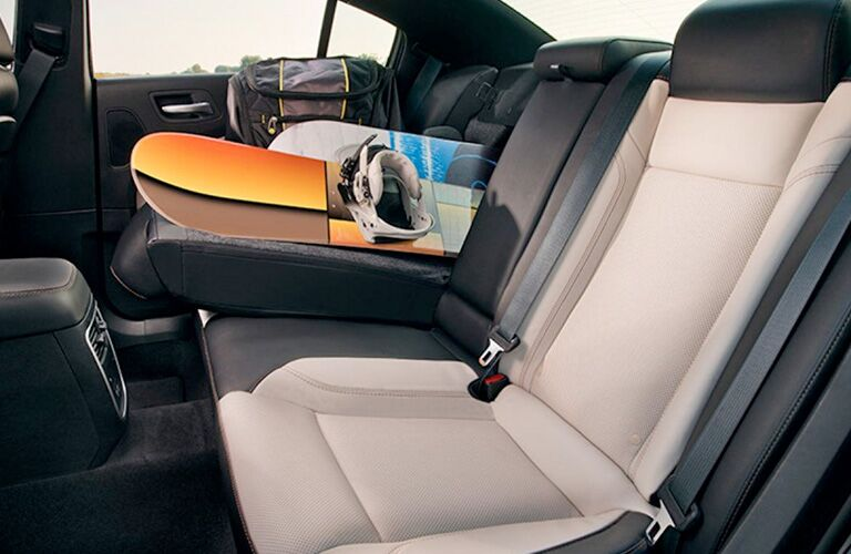 Rear folded seating in 2019 Dodge Charger