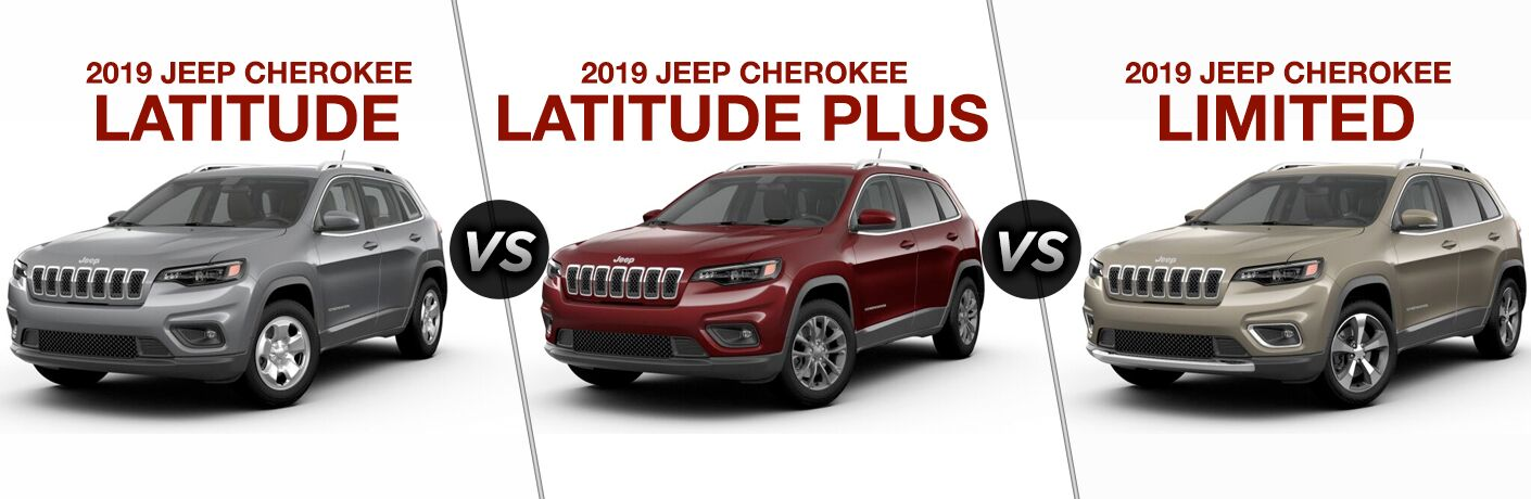 2019 Jeep Cherokee Latitude Vs Latitude Plus Vs Limited