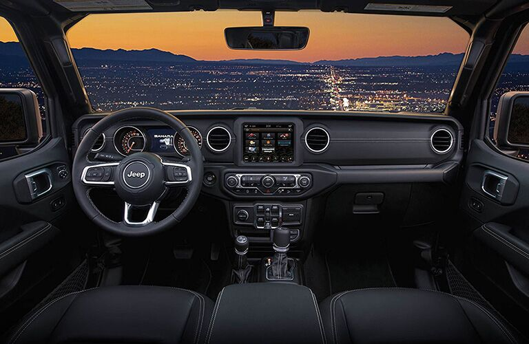 2019 Jeep Wrangler dashboard and steering wheel