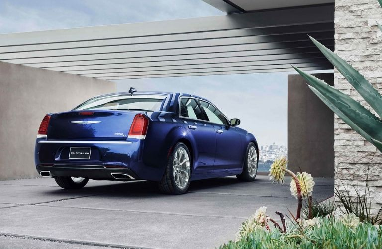 2020 Chrysler 300 in residential driveway viewed from rear