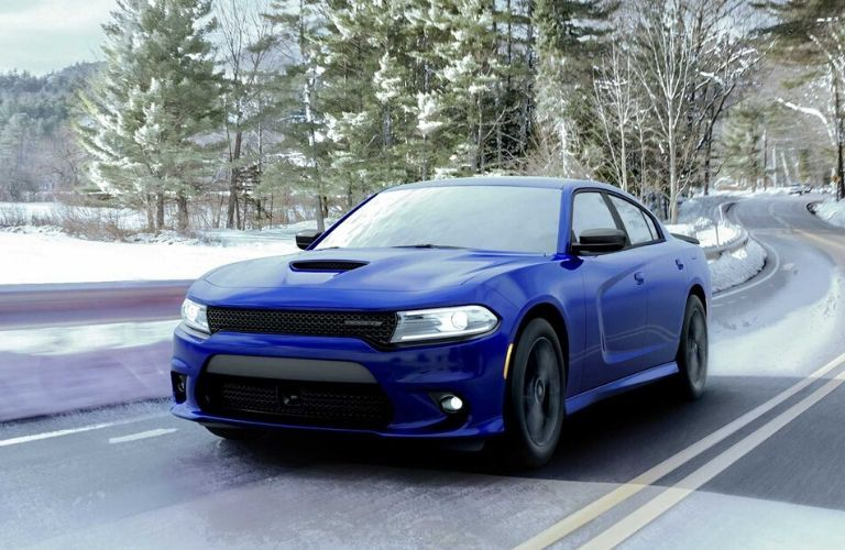 2020 Dodge Charger on winter road