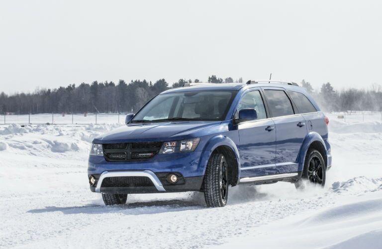 2020 Dodge Journey on snow driving