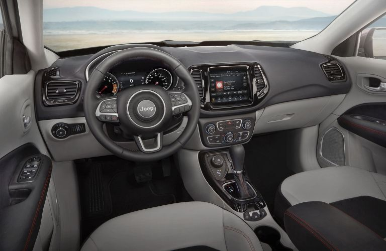 2020 Jeep Compass dashboard and steering wheel