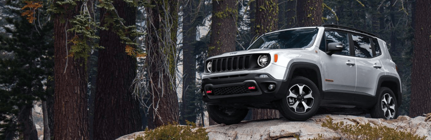 2020 Jeep Renegade perched on cliff