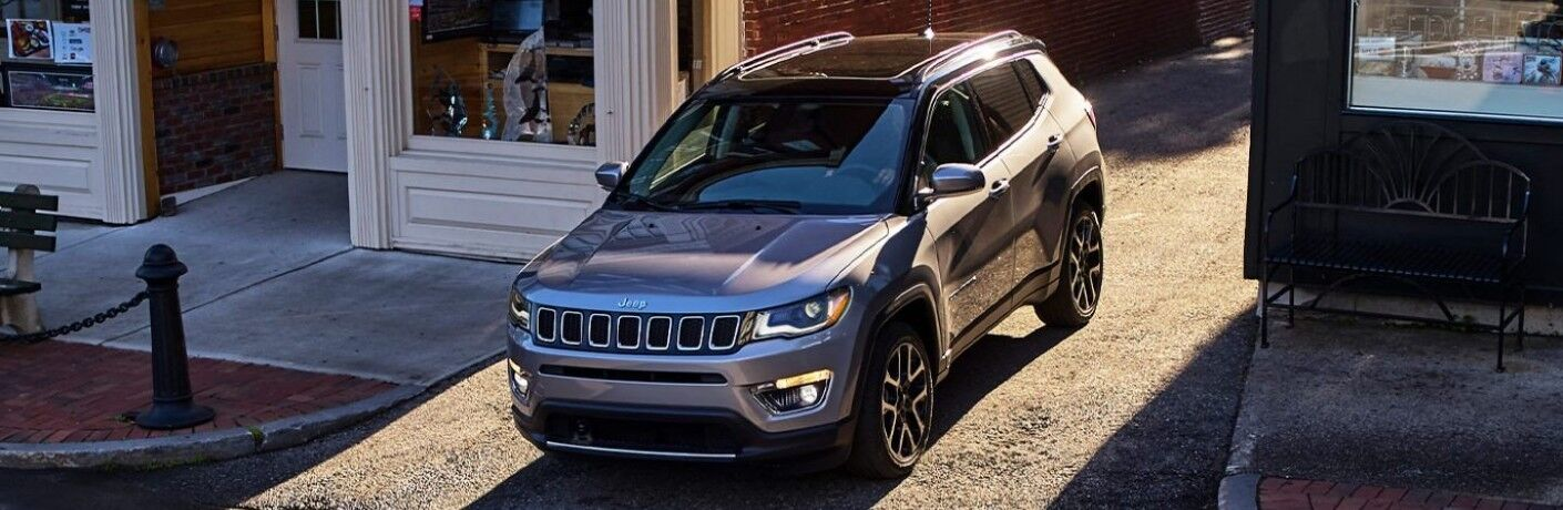 2021 Jeep Compass in city alley