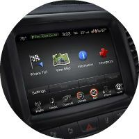 Uconnect infotainment system on the 2016 Jeep Cherokee