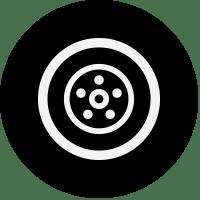 black wheel icon