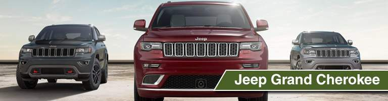 three models of the 2017 Jeep Grand Cherokee
