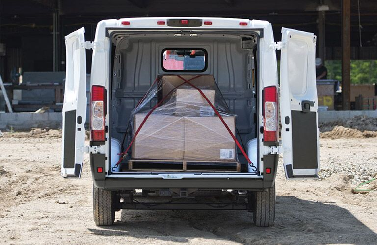 2020 Ram ProMaster loaded with cargo