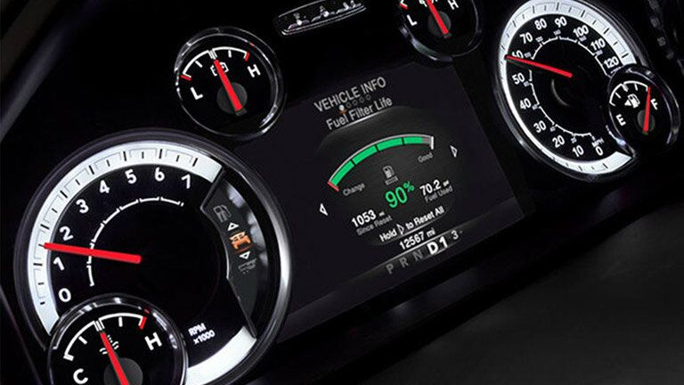 gauges and instrumentation of the 2016 Ram 2500