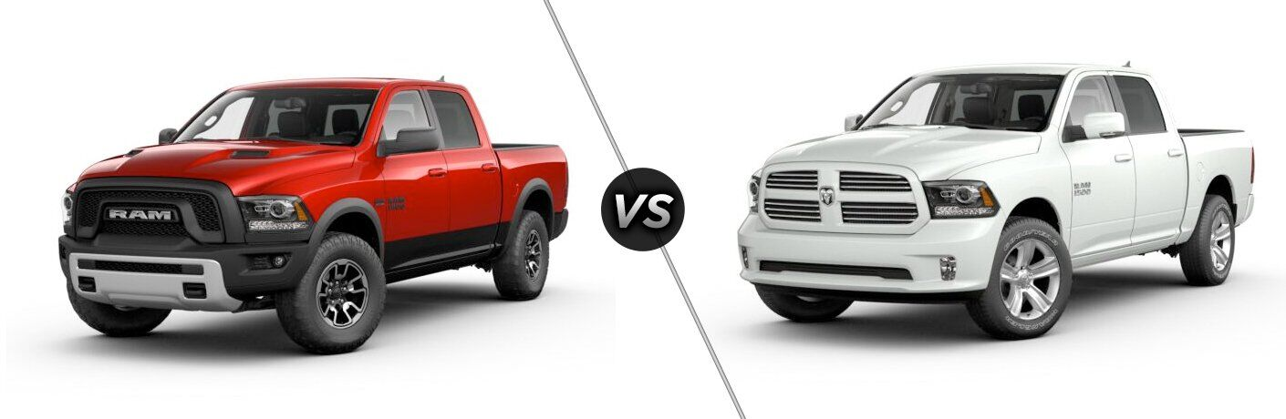 2017 Ram 1500 Rebel vs Sport