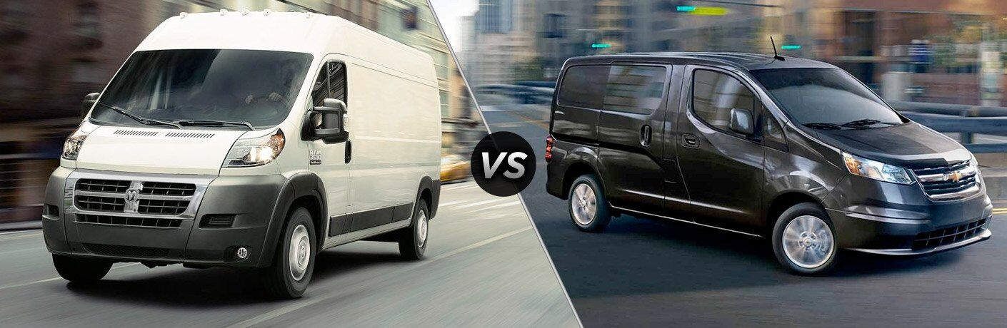 2017 Ram ProMaster vs 2017 Chevy Express