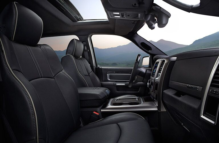 comfortable front seats of the 2017 Ram 1500